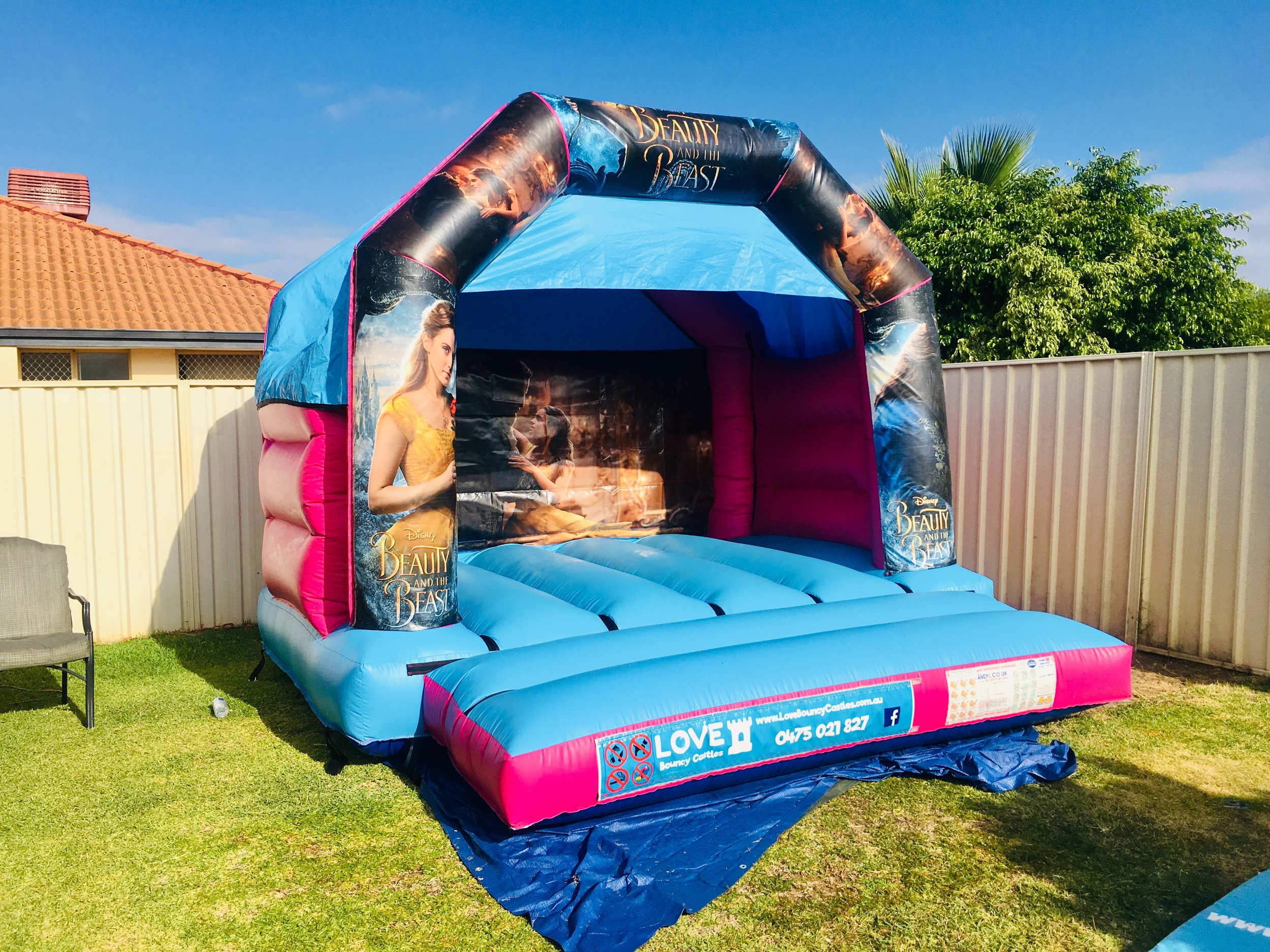 Beauty And The Beast Small Bouncy Castle Hire Perth