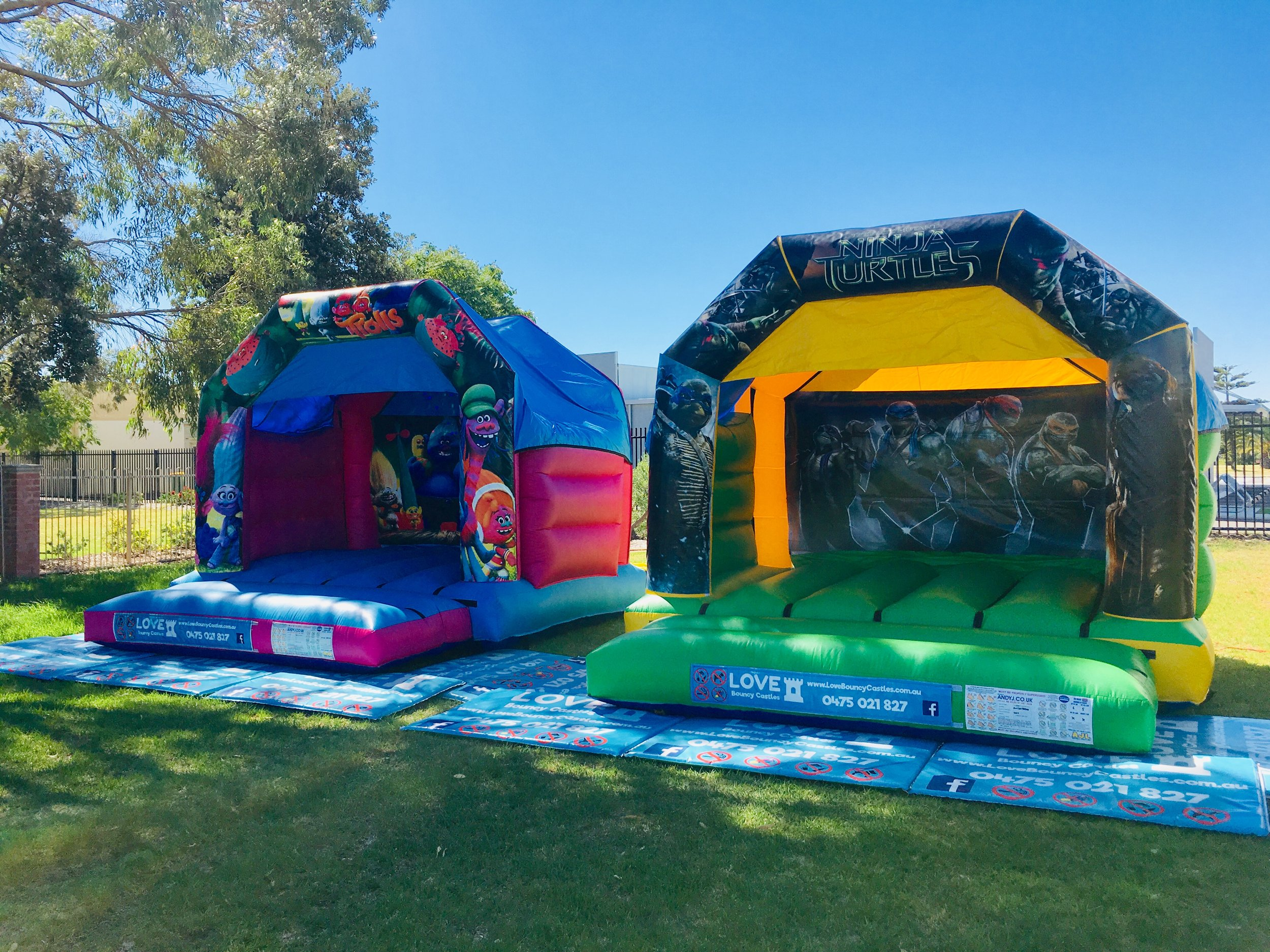 TMNT Bouncy Castle Hire Perth