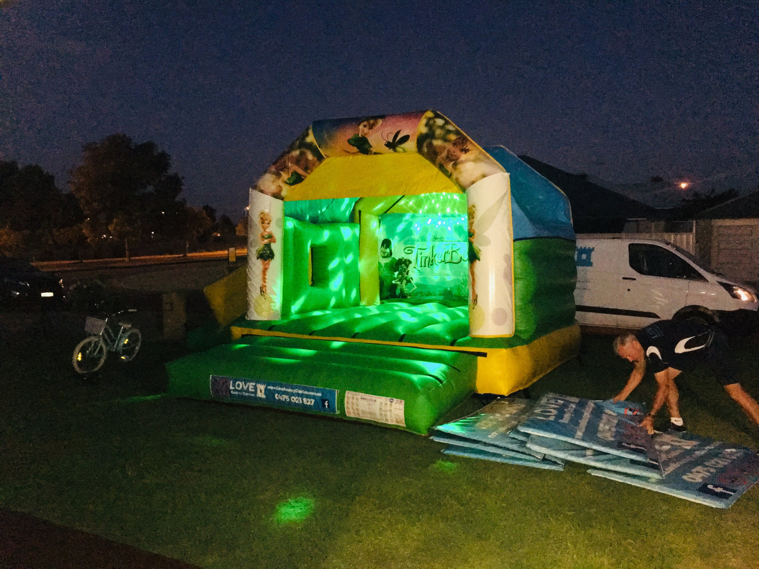 Tinkerbell Bouncy Castle Hire Perth
