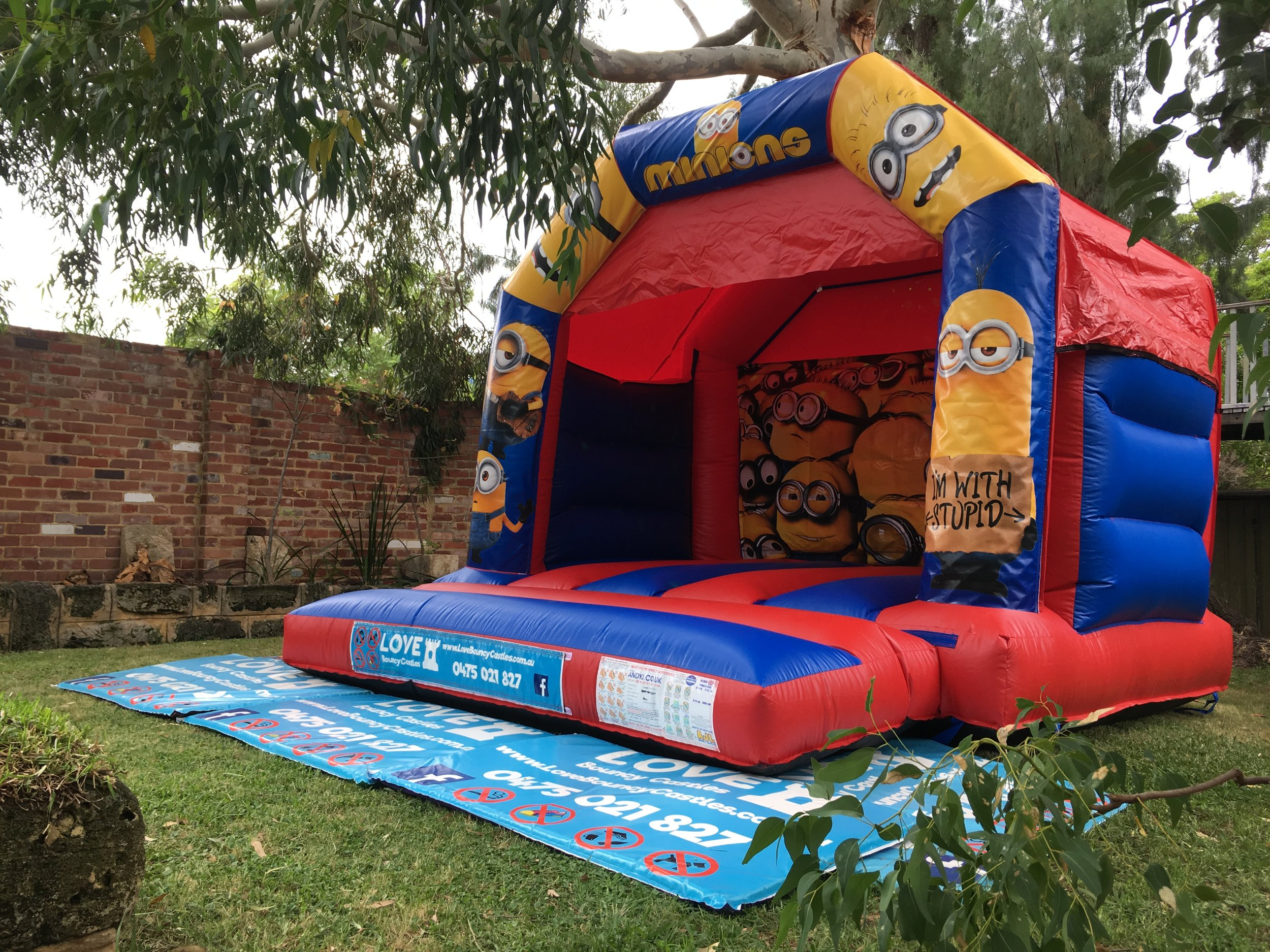 Minions Bouncy Castle Hire Perth