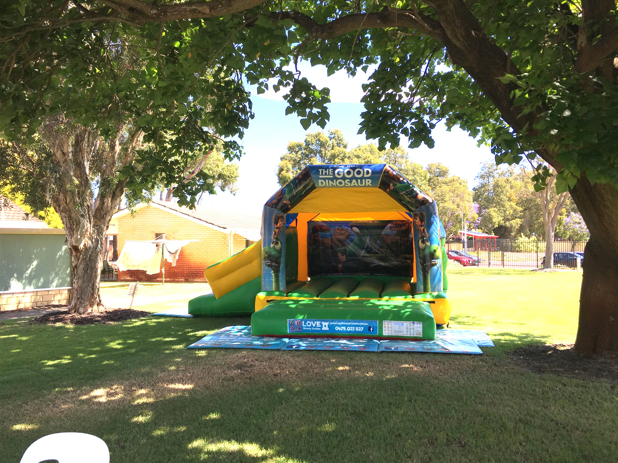 Dinosaur Bouncy Castle With Slide In Perth