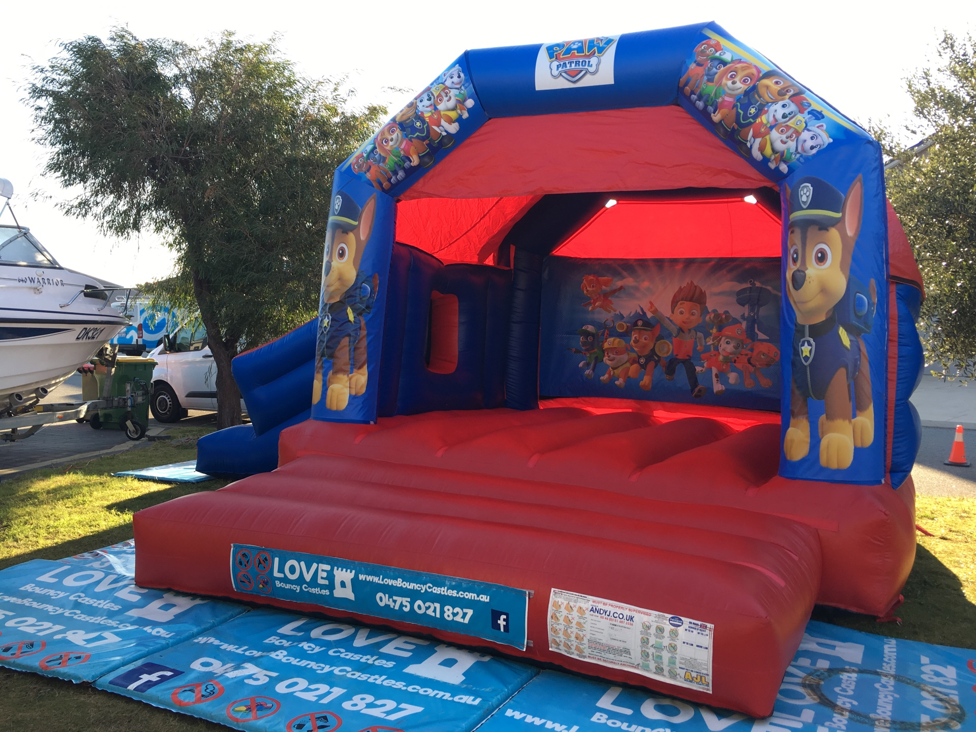 Paw Patrol Combo Bouncy Castle HIre Perth