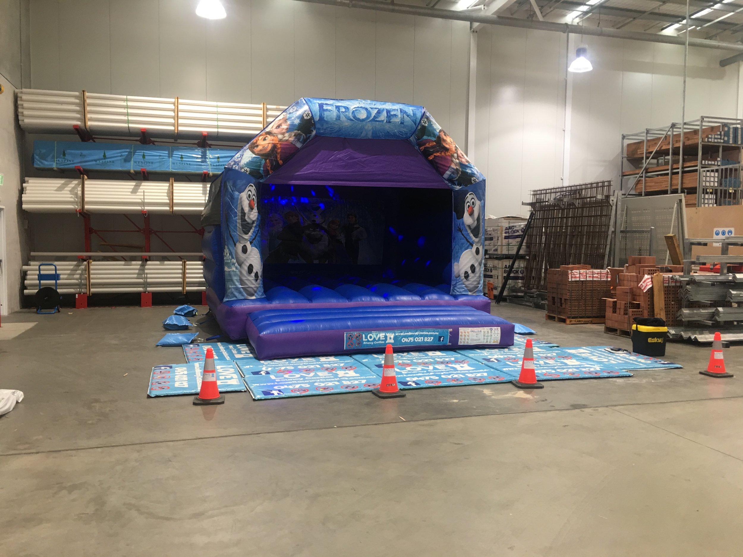 Adult Frozen Bouncy Castle Hire In Bunnings Halls Head