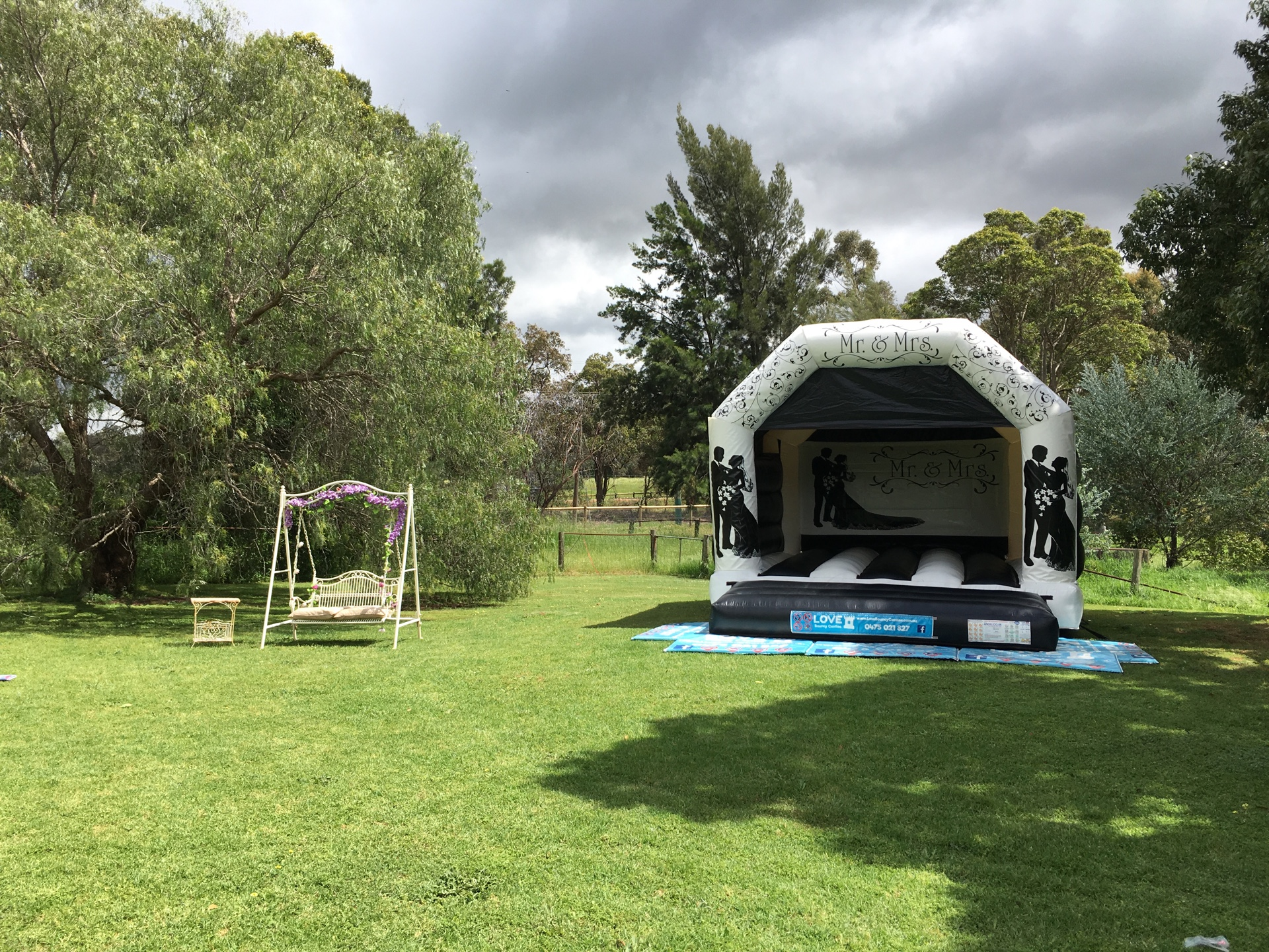 Wedding Bouncy Castle Set Up In Perth