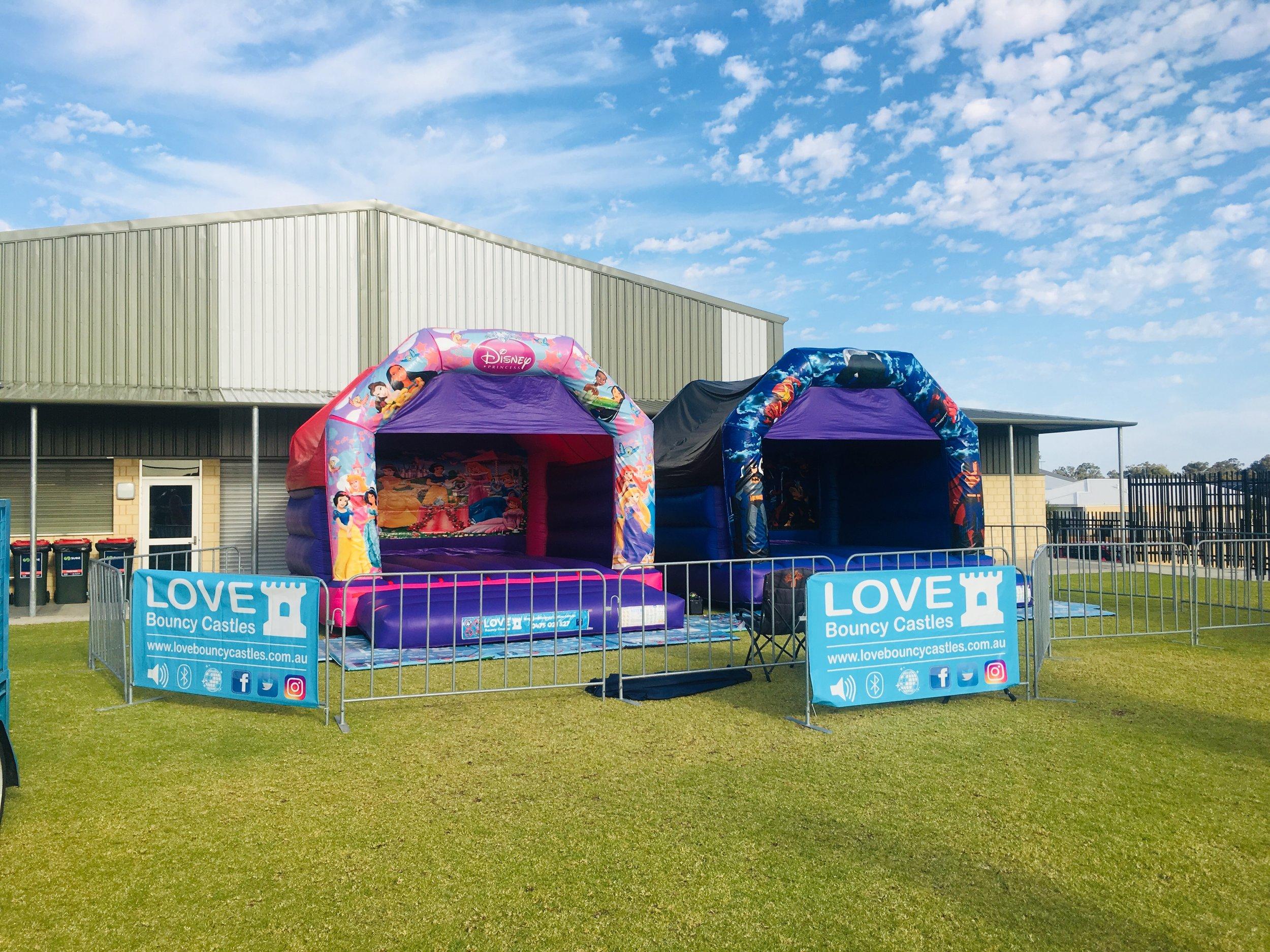 Super Heros Bouncy Castle Set Up In Baldivis