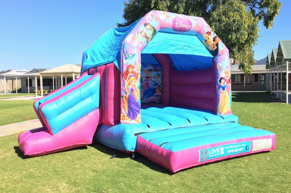 Combo Bouncy Castles - Castle Size 5mL x 5mW x 3.4mHSuitable From 2 yrs to 12 yrsCapacity – Up to 6 kids at a timePricesHalf Day Hire ( 10am to 2pm ) $275Full Day Hire ( 10am to 4pm ) $325Night Hire ( 4pm to 7am ) $350Prices are based on yard parties. For park set up or events please call or email for a quotation.