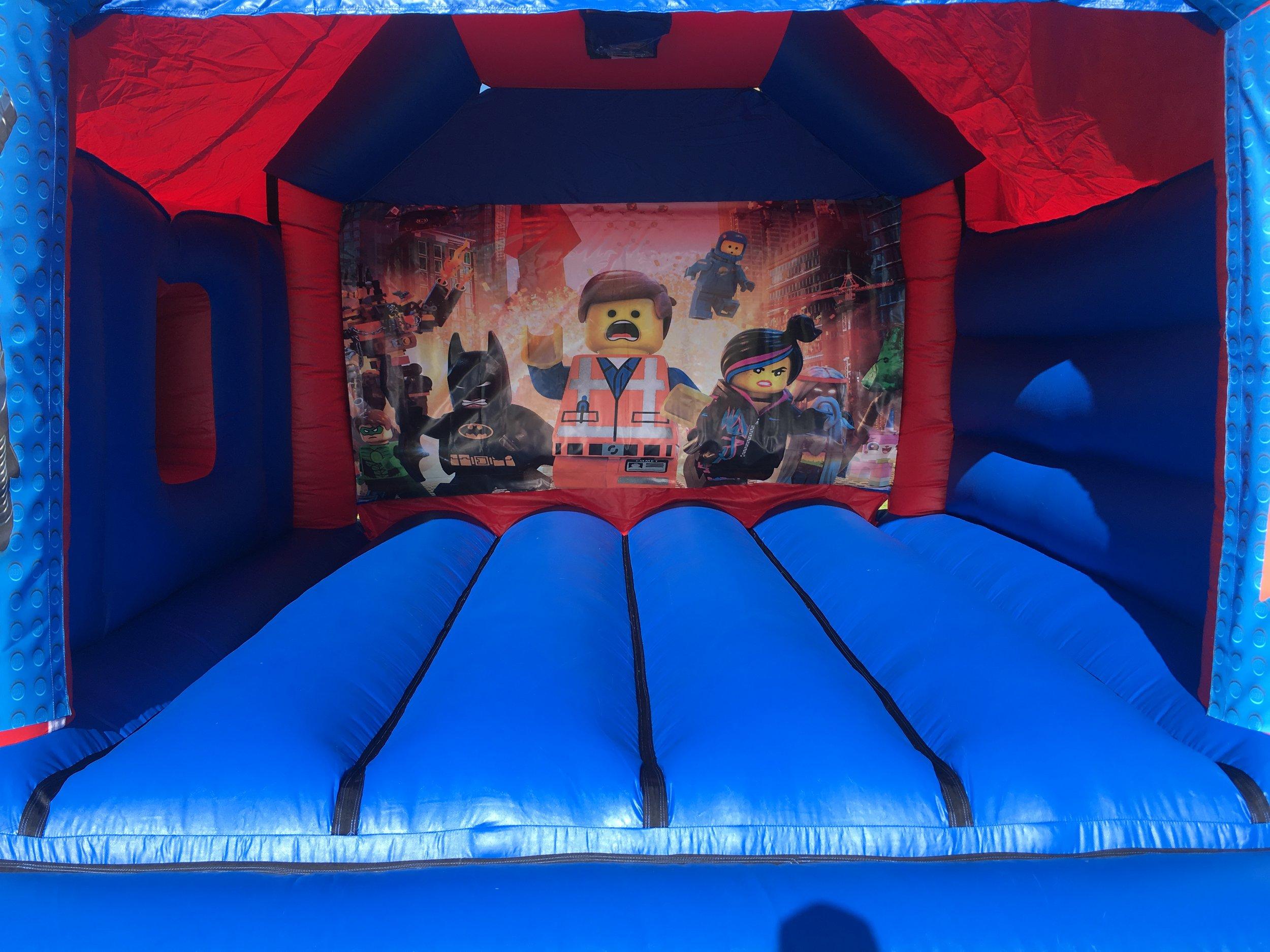 Lego Bouncy Castle Hire With Slide Mandurah