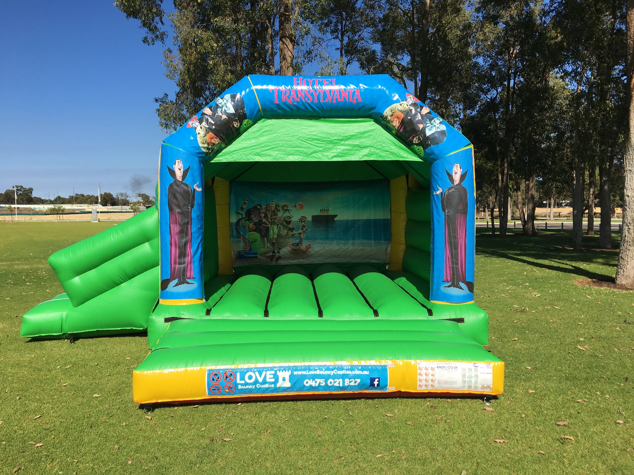 Disney bouncy castle hire with slide Baldivis