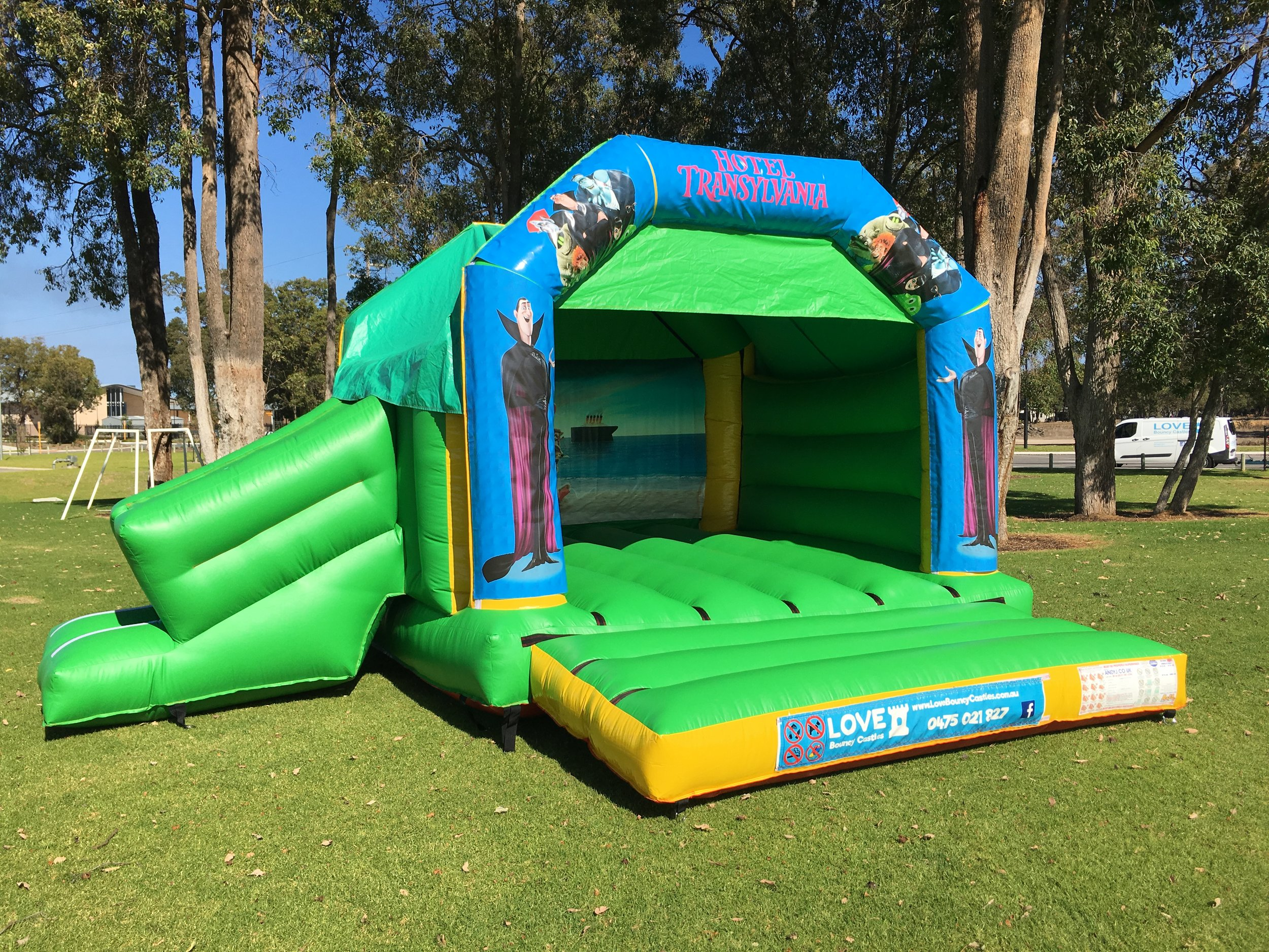 Disney bouncy castle hire with slide Rockingham