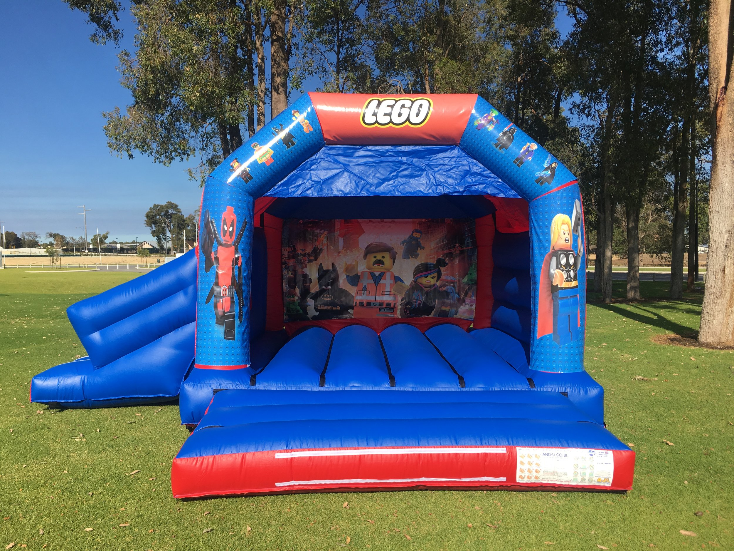 Lego Combo Bouncy Castle Hire Perth
