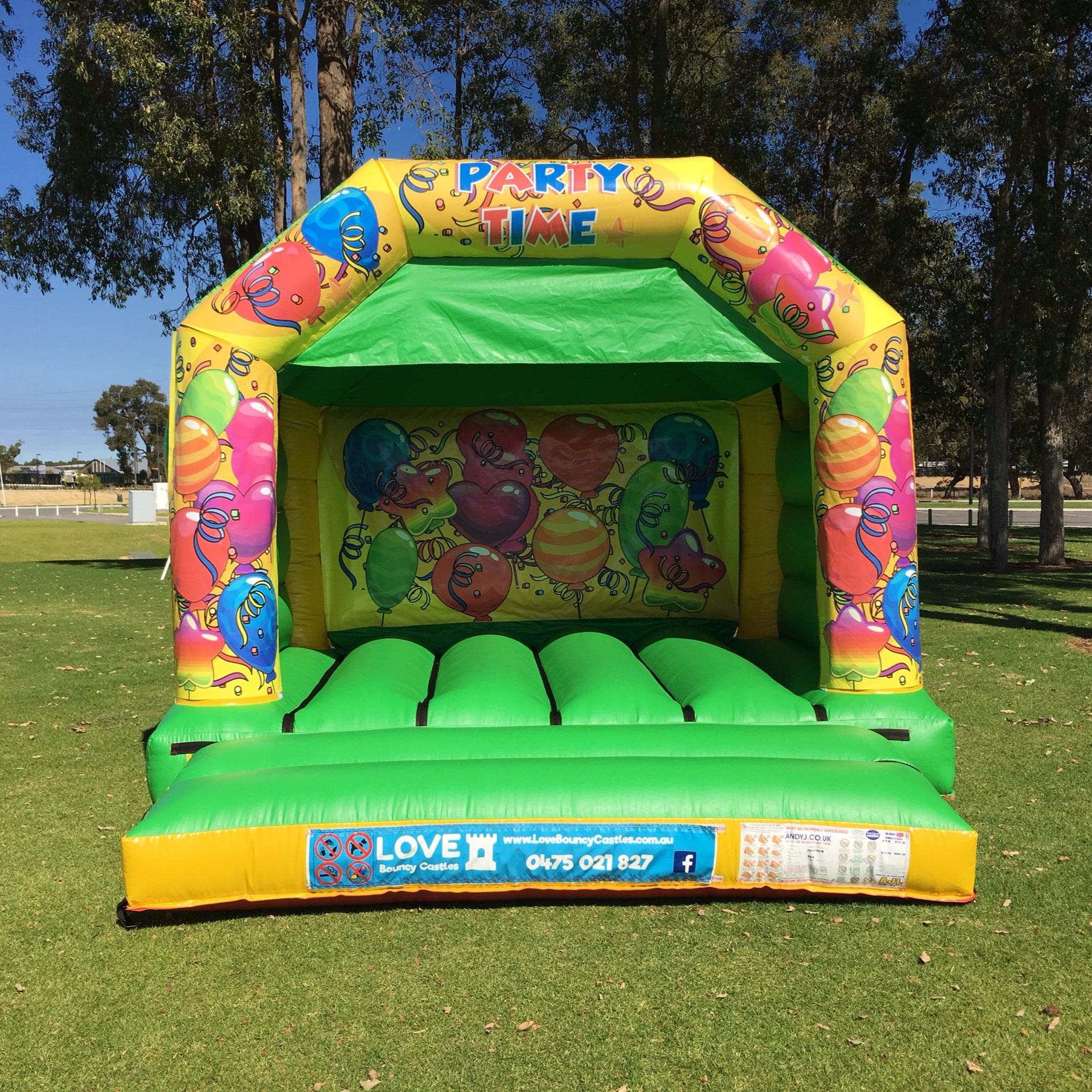 SMURF'S THEMED BOUNCY CASTLE $249