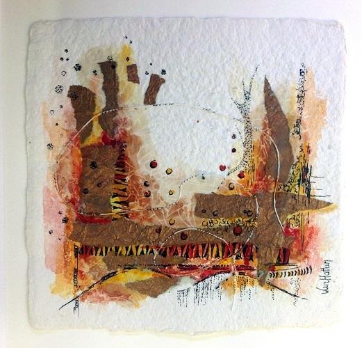 Landscape 1, O.I. ink mixed media, 15 - 15
