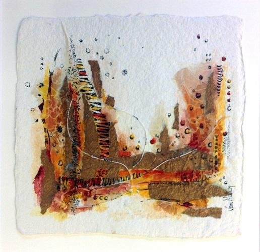 Landscape 3, O.I. ink mixed media, 15 - 15