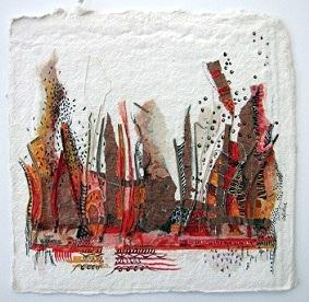 Landscape 7, O.I. ink mixed media, 30 - 30