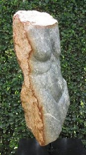 Torso, Serpentine, 60 cm high.