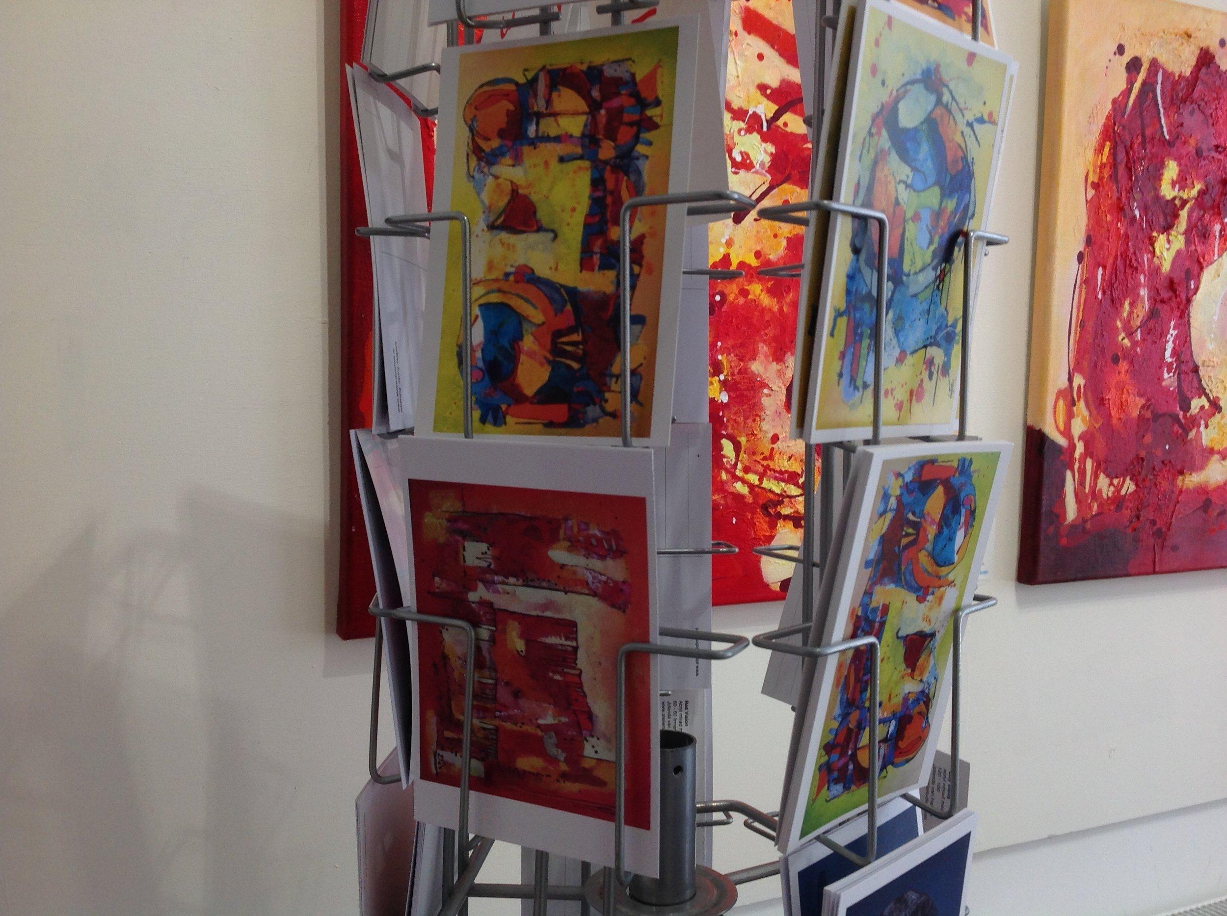 Kunstkaarten met mijn werk erop. Super..