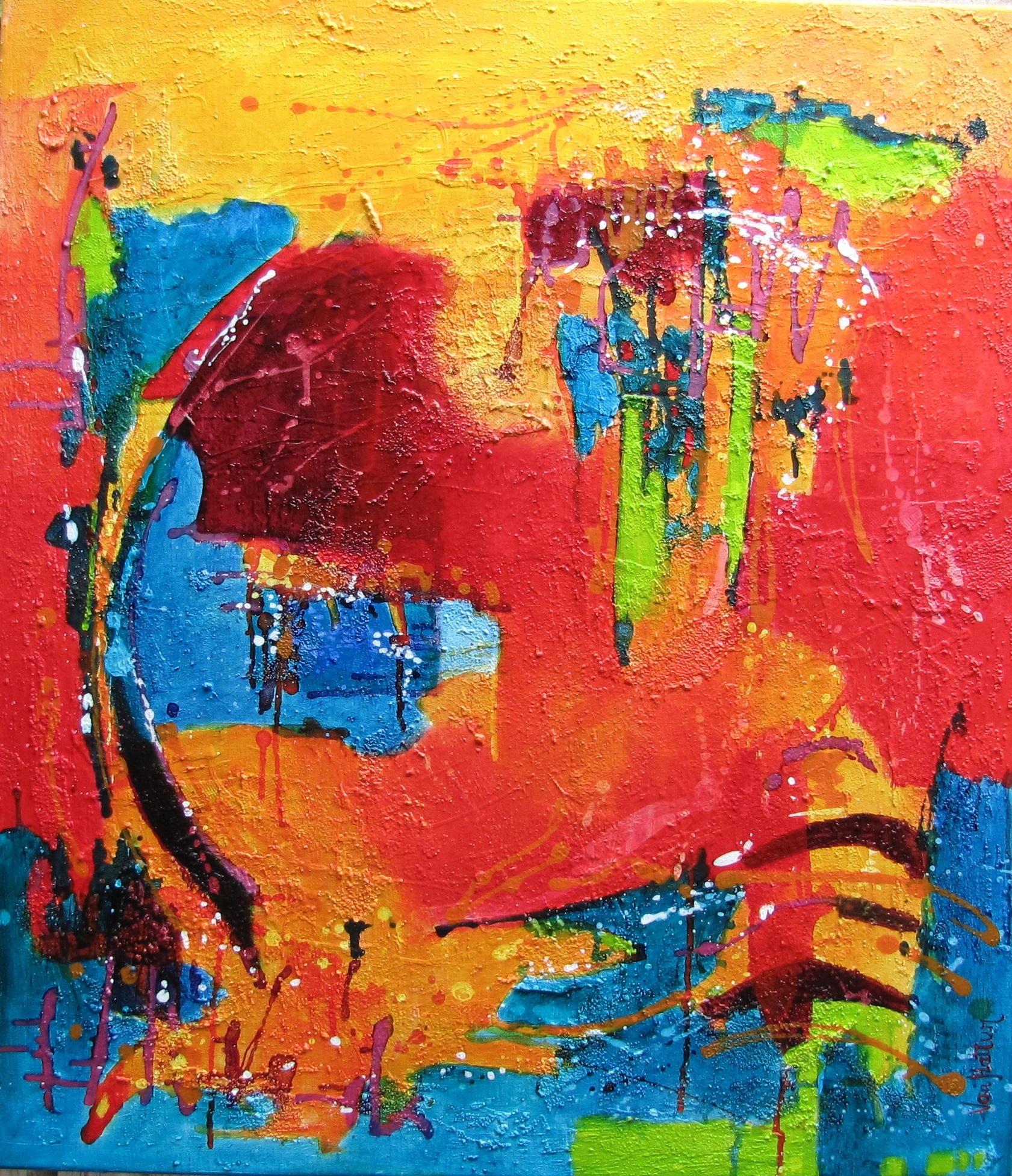 Maandag 30 juli..weer nieuw werk gebracht naar de Galerie.