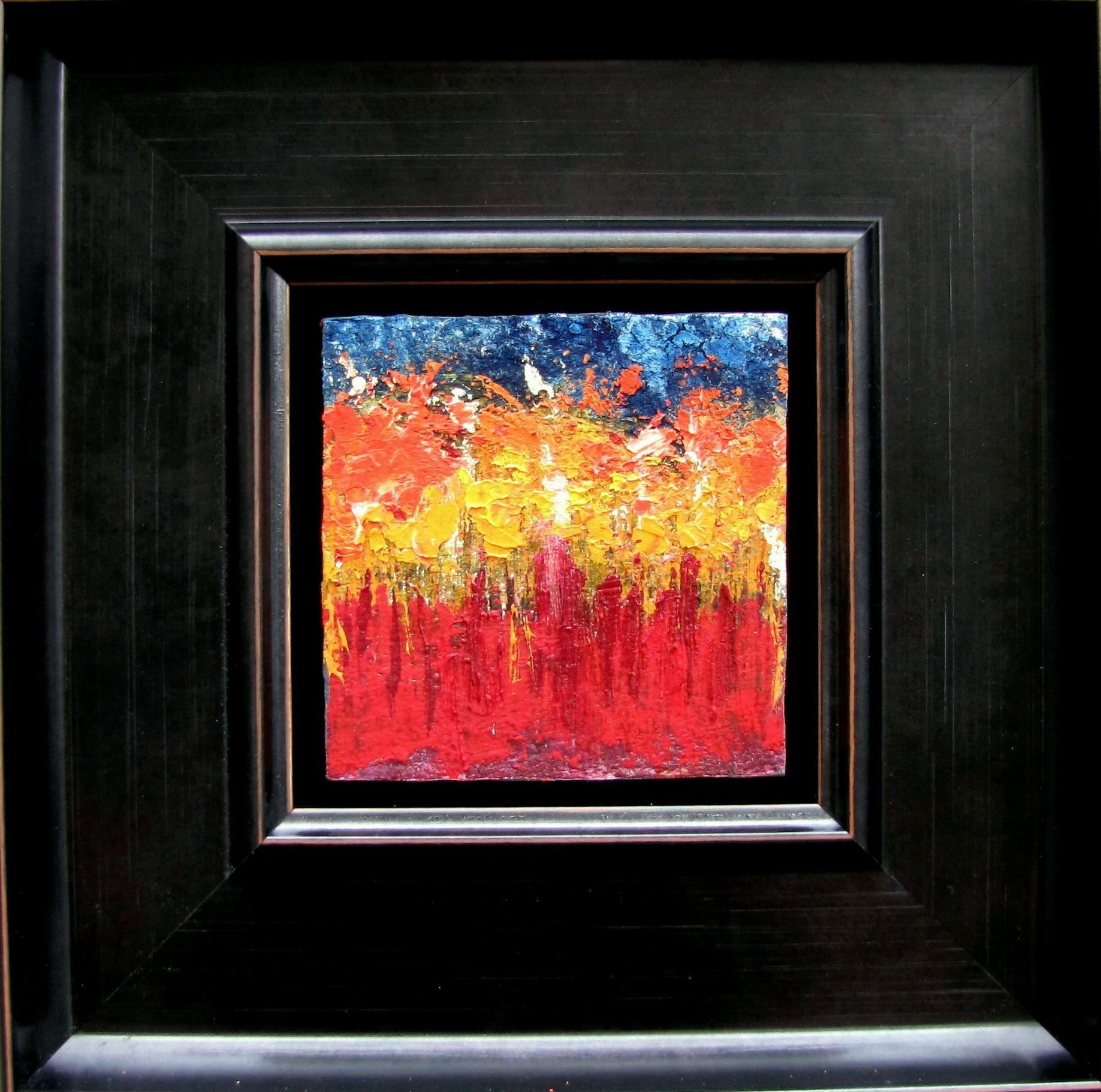 """""""Flower Fields """"Oil pigments on panel. 10 - 10 framed 25 - 25"""