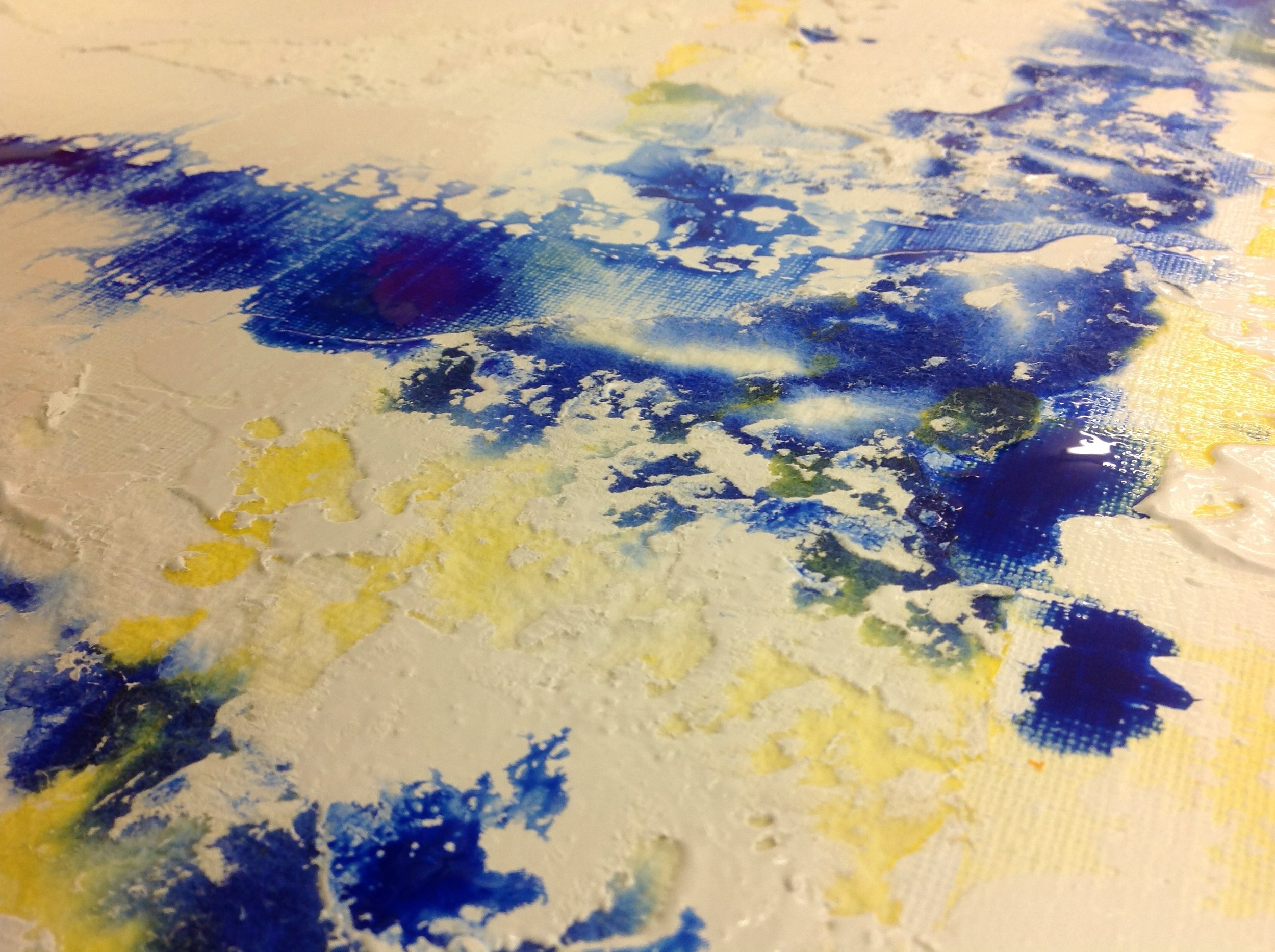 Cast paper on linen