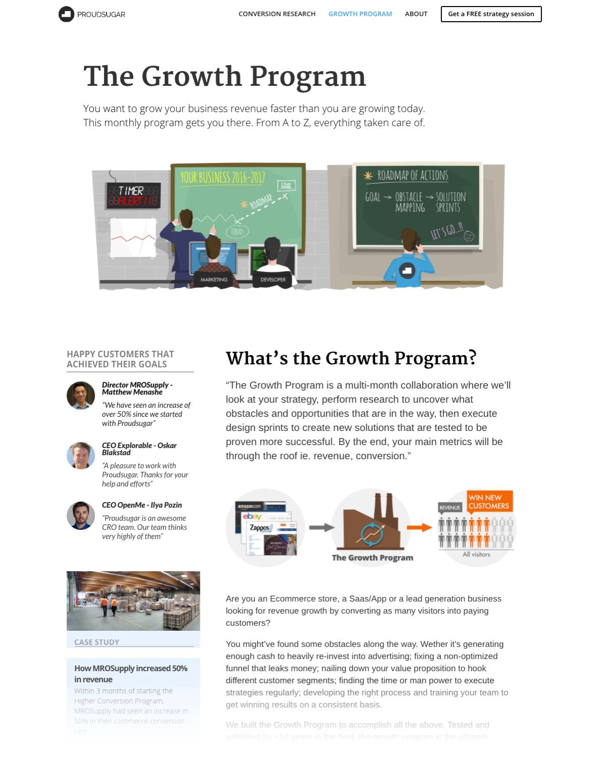 """Growth Program"" page"