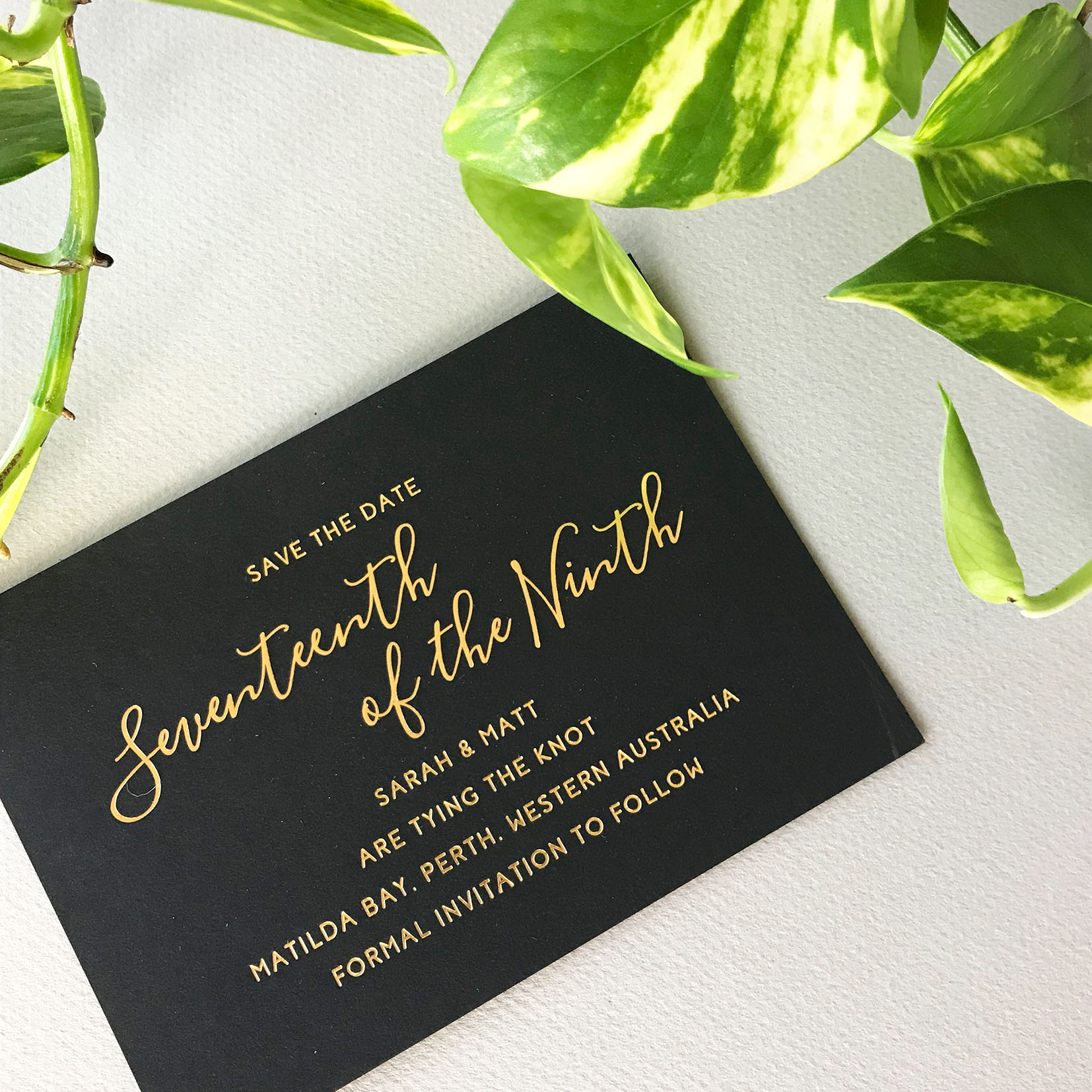 ficus and fig design gold foil save the date.jpg