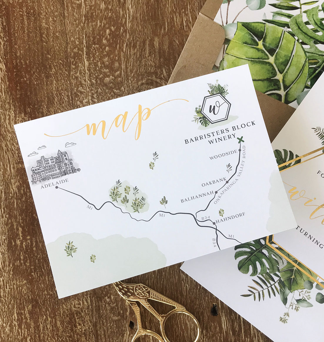 Custom maps really make your stationery a standout!