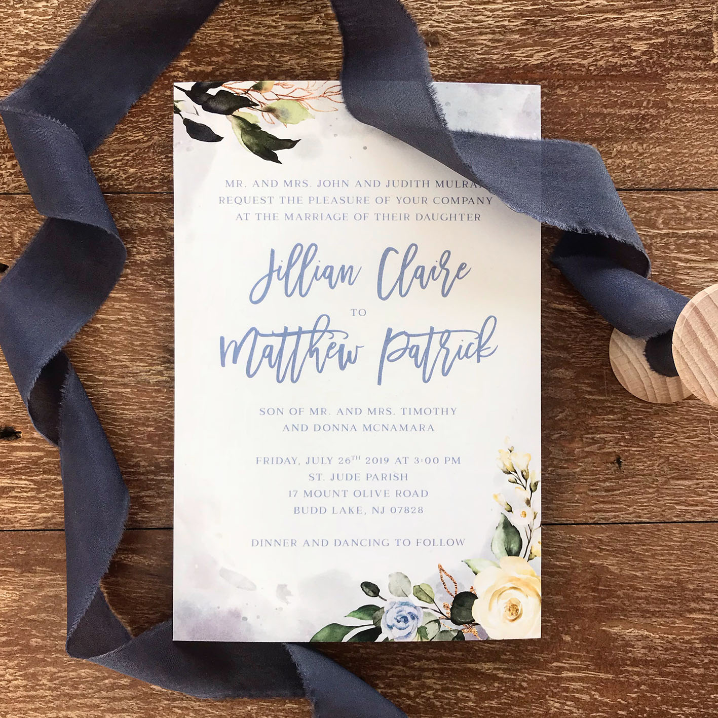 dusty blue wedding invitation watercolour gold foil.jpg