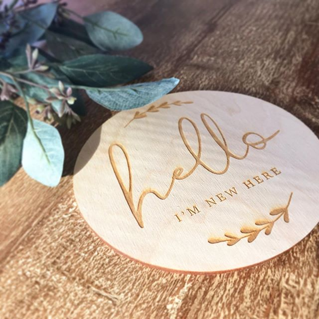Baby Day isn't here YET but I had to share this gorgeous custom wooden plaque 😍 The lovely @producedbygosh is now offering laser cutting and engraving so I just had to create a custom birth announcement for our little bub on the way! 👶 Check out her updated website to shop all the new products - and act quickly, she is currently offering a 10% discount storewide! ⠀⠀⠀⠀⠀⠀⠀⠀⠀ #ficusandfig #babyannouncement #lasercutting #newborn #woodenplaque #customengraving #weddinginvitations #weddingideas #graphicdesign #helloimnewhere #customdesign #melbournebusinesswomen #makersgonnamake #newbornannouncement #weddingstationery #smallbusinesslove #stationeryshop