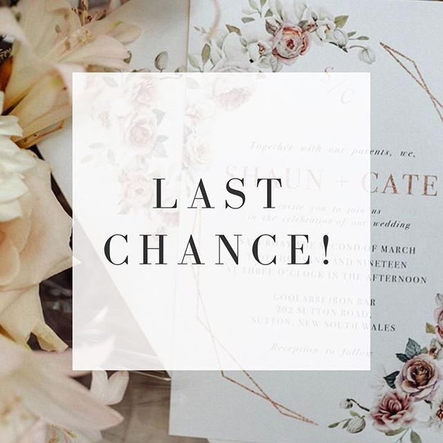 ✨ Ending tonight! ✨ Our 25% OFF storewide sale is almost finished! This markdown applies to ALL of our editable stationery templates in our Etsy store - absolutely perfect for you DIY brides and grooms 😍 Templates include engagement invites, save the dates, invitation suites, menus, welcome signs, seating charts, and more! Check it out here ➡️ ficusandfig.etsy.com ⠀⠀⠀⠀⠀⠀⠀⠀⠀ #ficusandfig #diywedding #modernbride #diybride #bridalstyle #weddingplanning #weddinginvitations #weddingideas #weddingprintables #2019bride #2020bride #etsysale #makersgonnamake #etsysellersofinstagram #weddingstationery #savethedate #invitationtemplate #engaged #invitations #stationerydesigner #etsyshop #eofysale #stationeryshop #welcomesigns #seatingchart #dayofstationery #weddinginvites #weddingmenu #engagementinvitation
