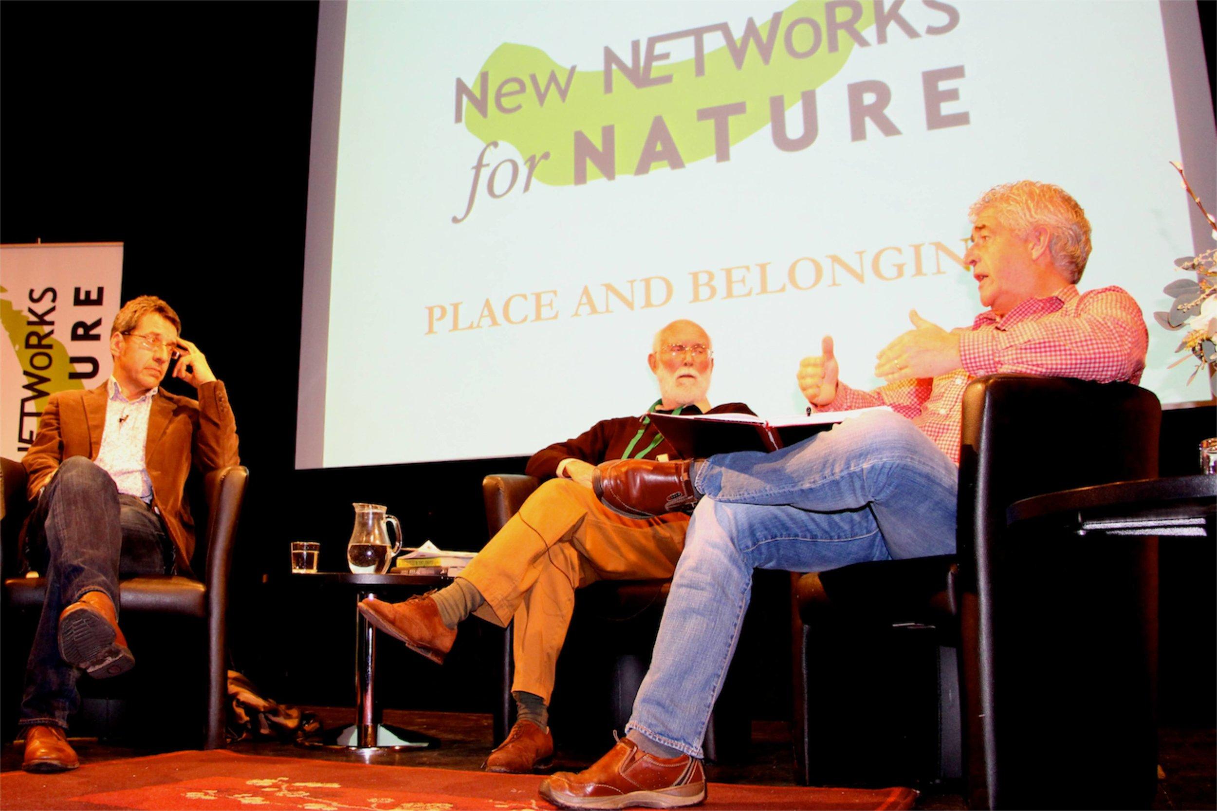 George Monbiot, Jeremy Mynott and Tony Juniper © Tim Birkhead