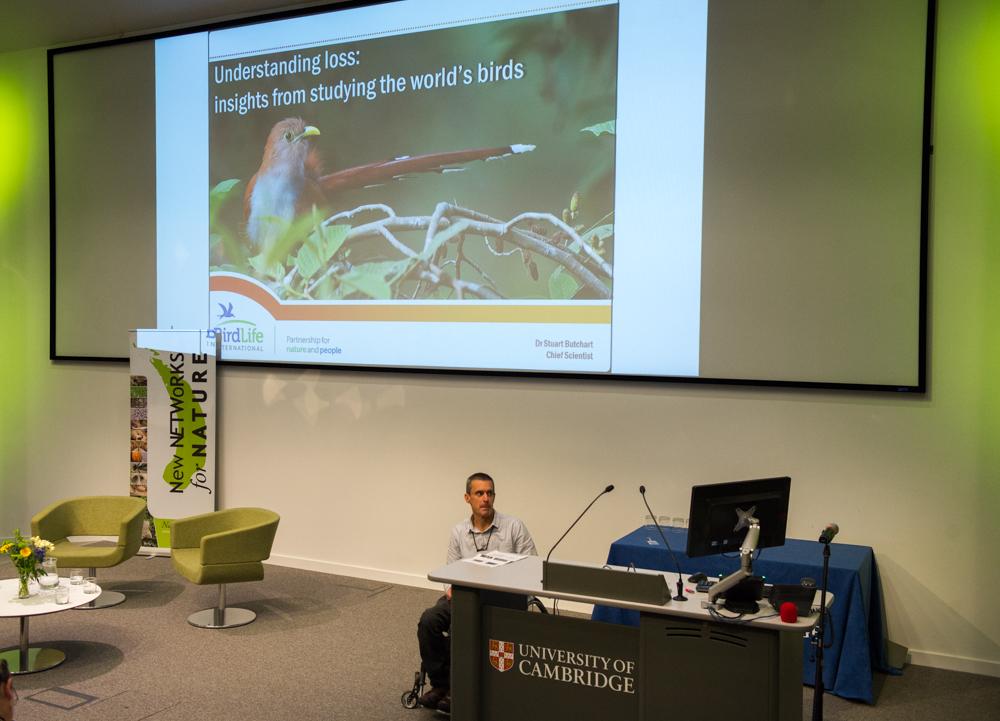 Stu Butchart speaks on birds and loss © Cheryl-Samantha Owen