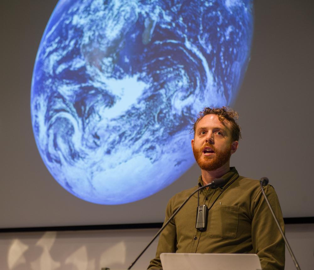 Toby Smith, photographer, and NASA's Blue Marble © Cheryl-Samantha Owen