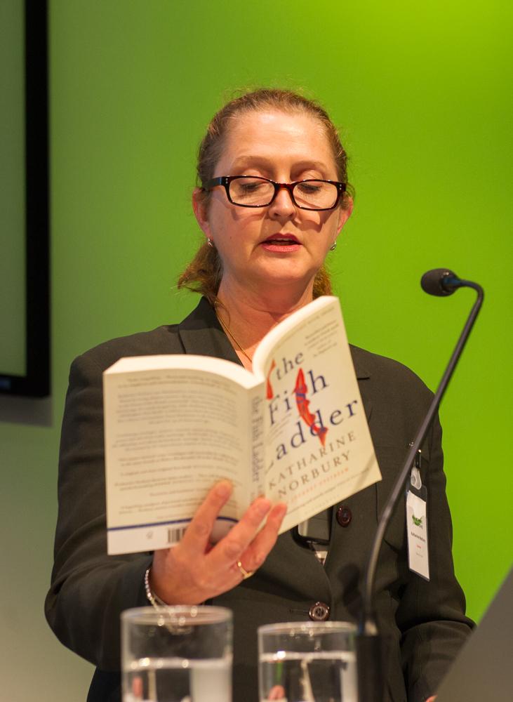 Katharine Norbury reads from The Fish Ladder © Cheryl-Samantha Owen