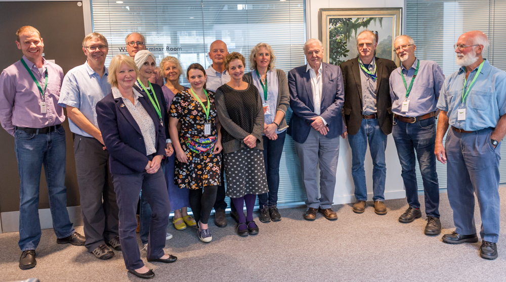 Sir David Attenborough and the NNN Steering Group © Cheryl-Samantha Owen