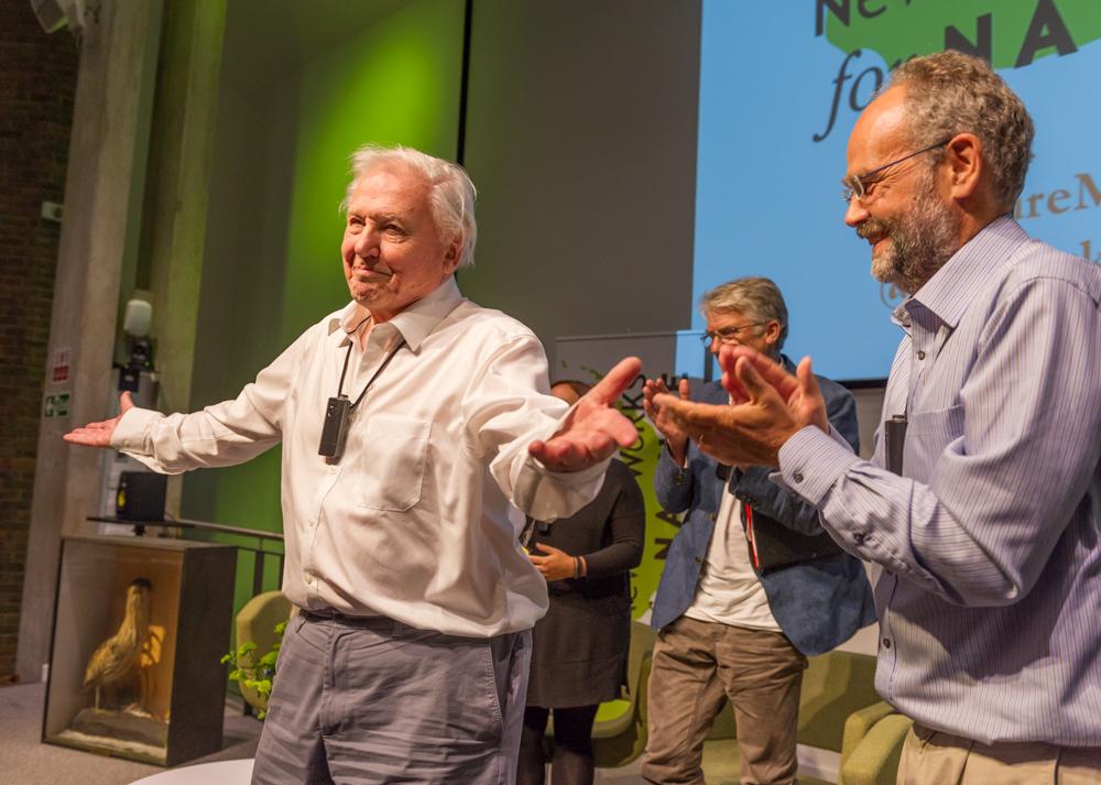 A standing ovation for Sir David Attenborough, the voice of nature © Cheryl-Samantha Owen