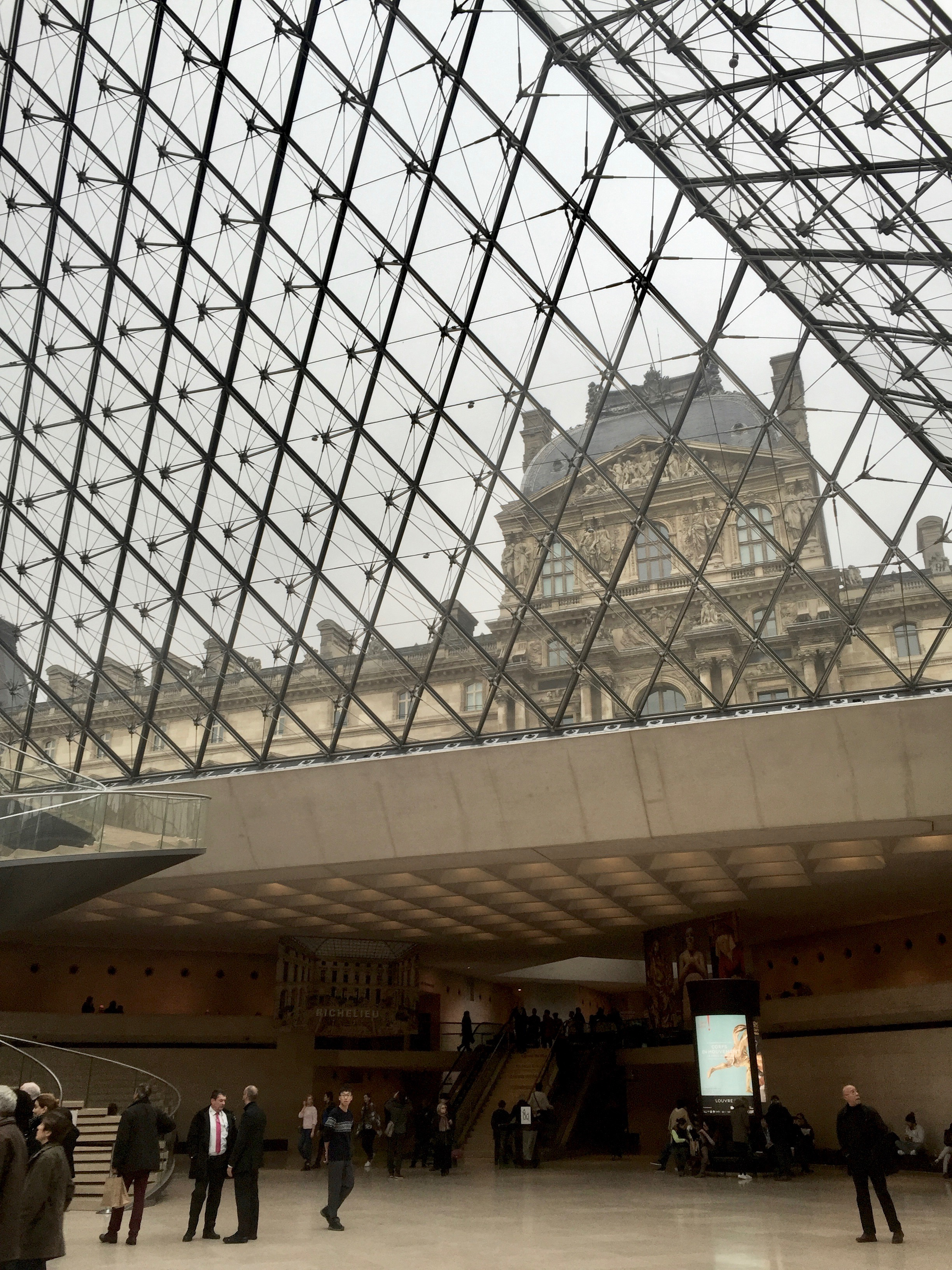 Le Louvre, Old and New   photo by L.D. Van Cleave