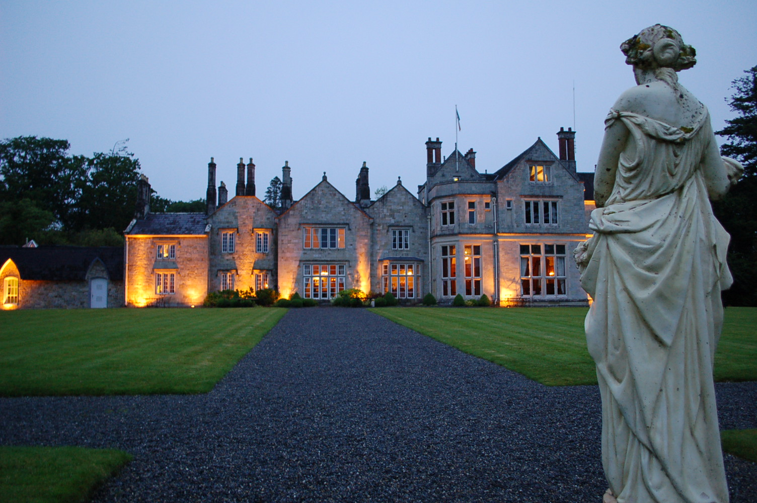 Lough Rynn Castle on a White Night    photo by L.D. Van Cleave