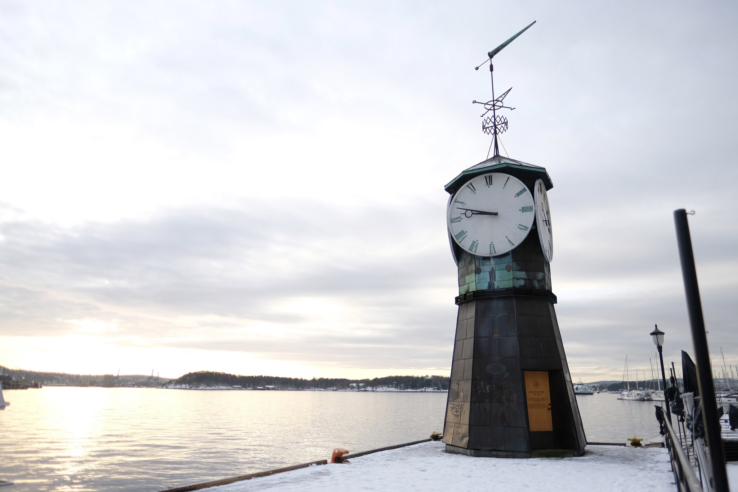 Clock by the Cold Water    photo by L.D. Van Cleave