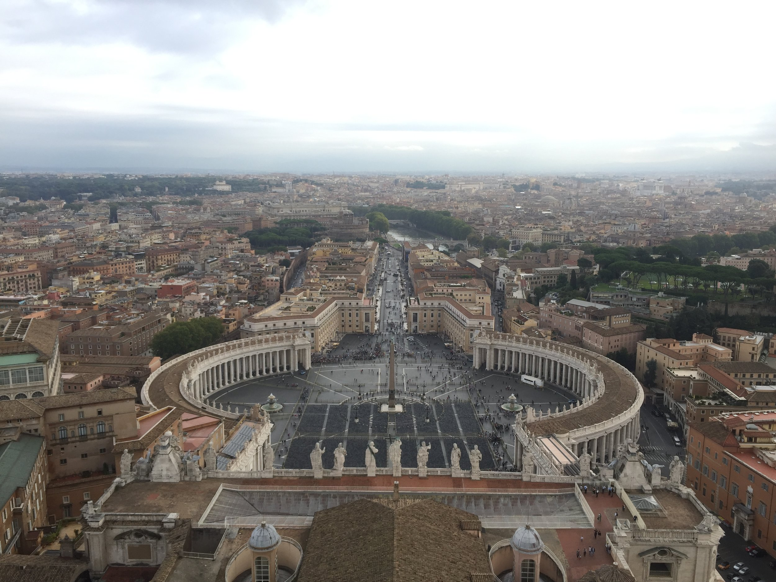 Top of the Vatican    photo by L.D. Van Cleave
