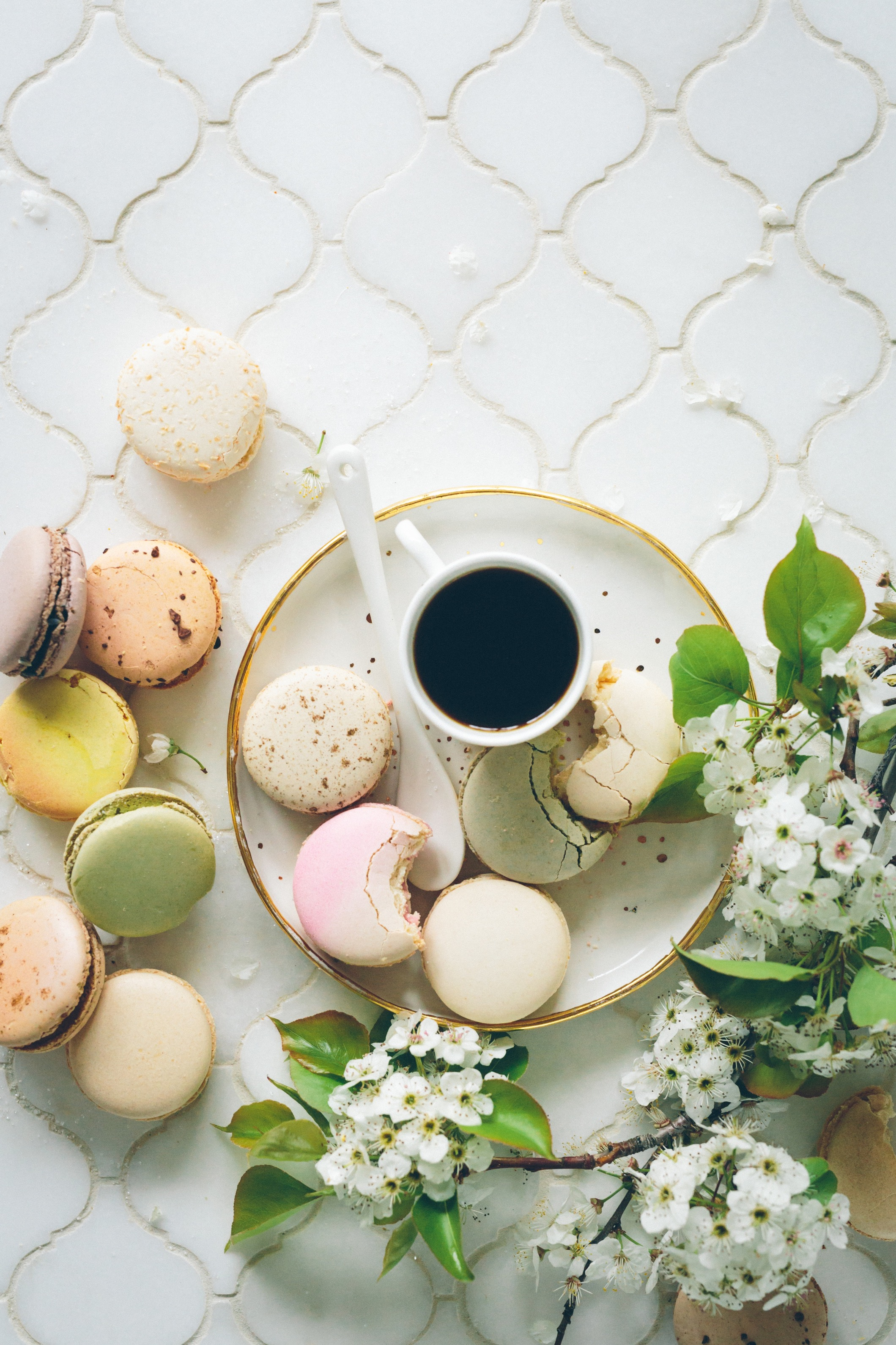 Macarons and Coffee (photo: Brooke Lark)