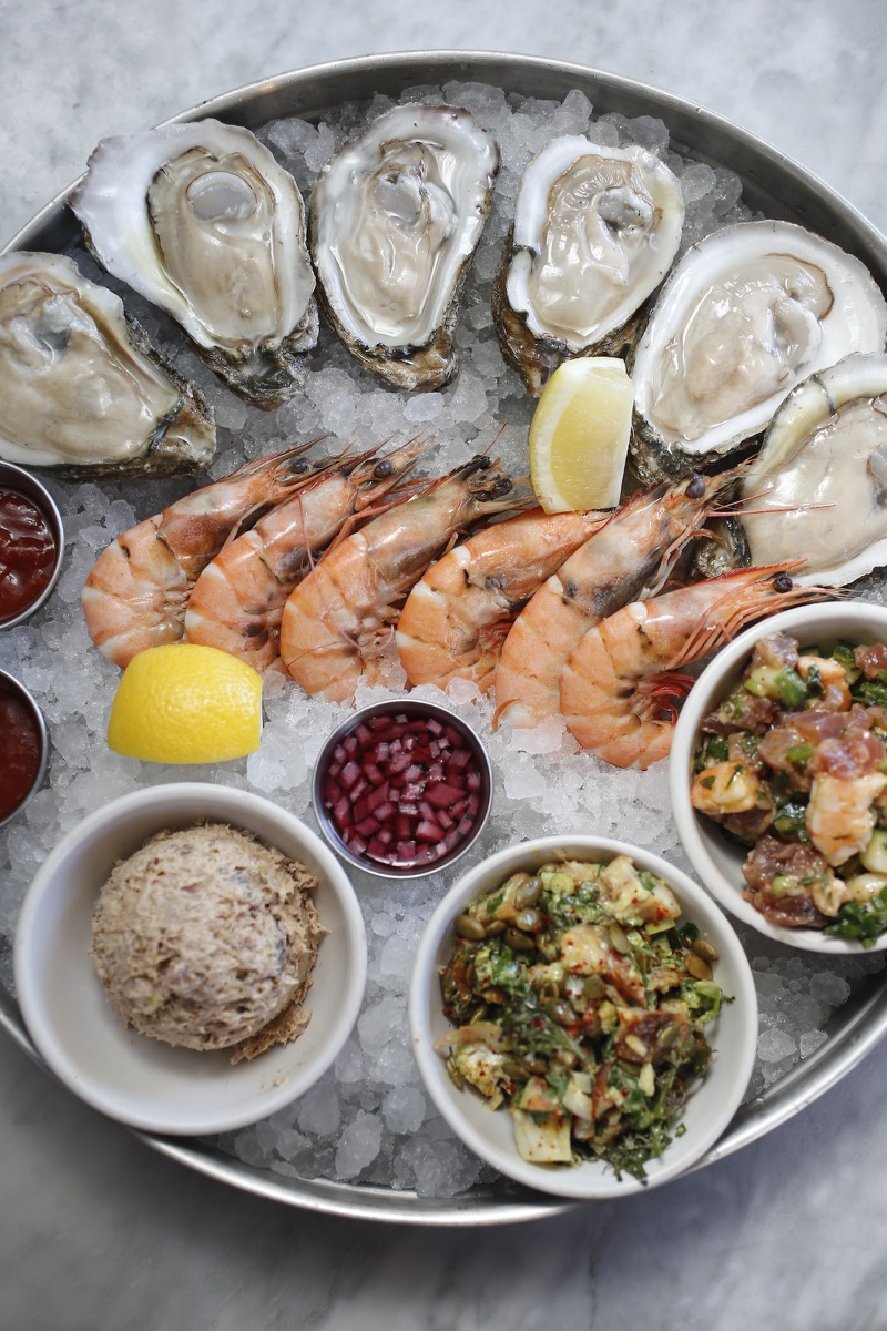 A seafood platter at Pêche (photo credit: Link Restaurant Group)