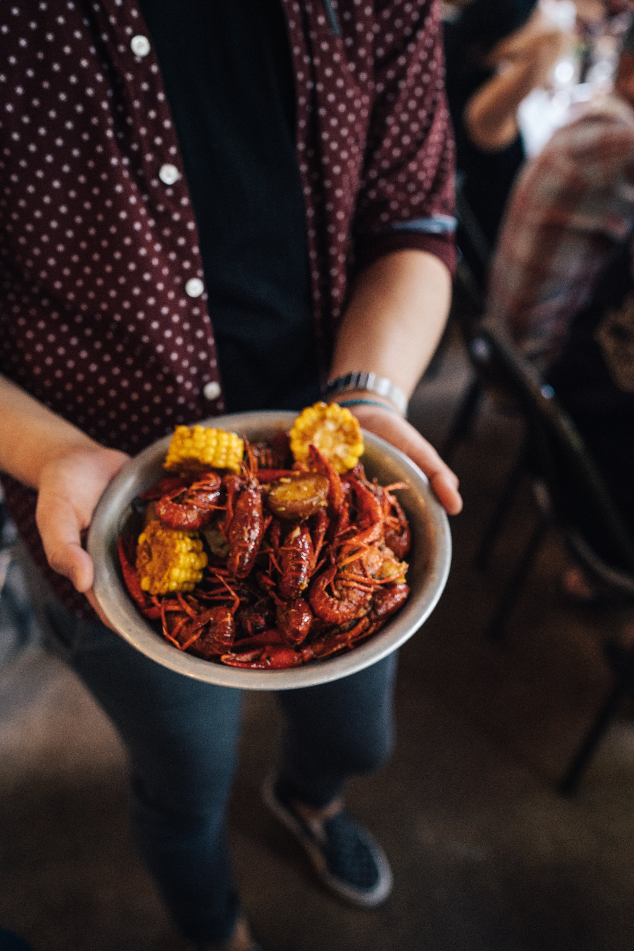 Crawfish and grilled corn (Photo: Sidney Pearce)
