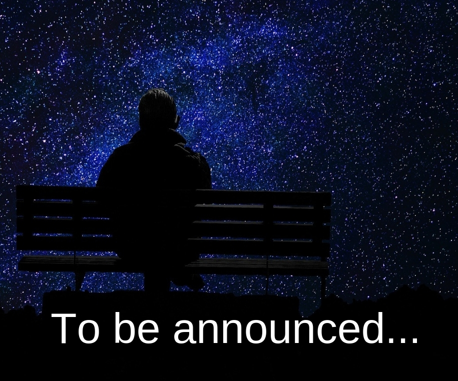Guest will be announced soon!(in the meantime, you can sit at the bench and look at the stars… or something ;)) -
