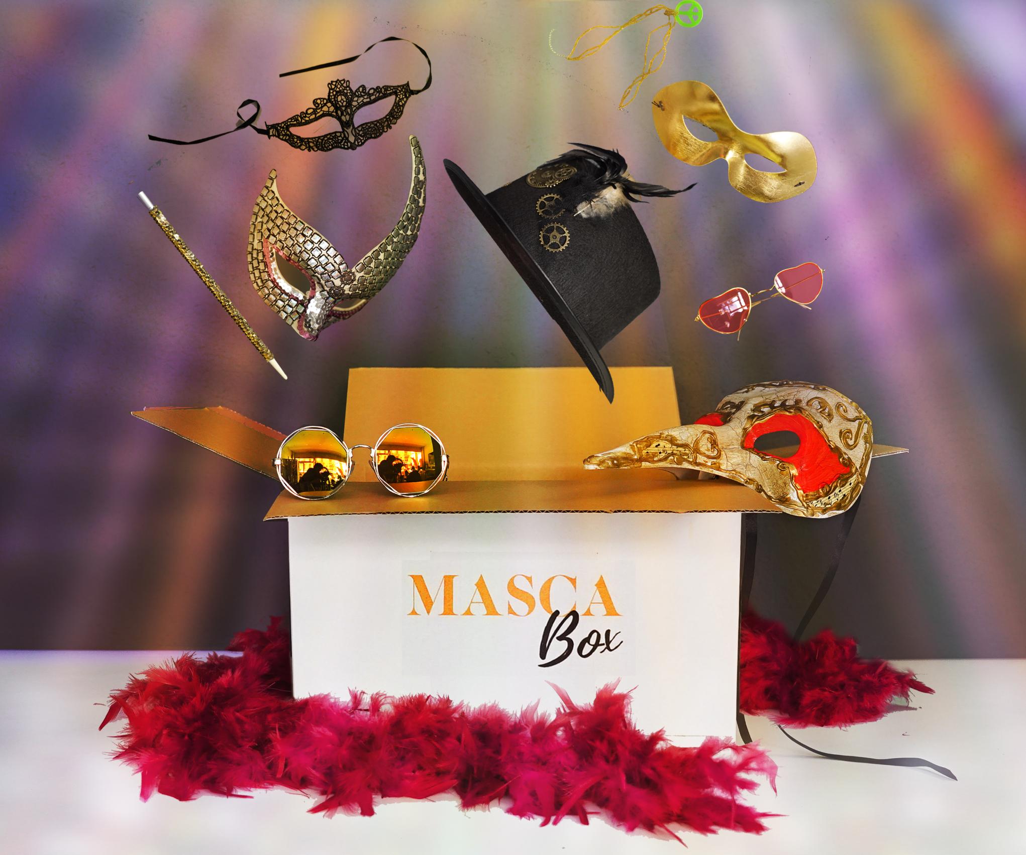 La BOX d'accessoires - Découvrez la BOX pleine d'accessoires de fêtes pour une soirée réussie entre amis, collègues ou pour votre Photobooth. Nous mettons à disposition une sélection d'accessoires inédits, mixtes ou en fonction de votre thème pour une soirée réussie à coup sûr!Vous choisissez, nous nous déplaçons!Devis sur demande.