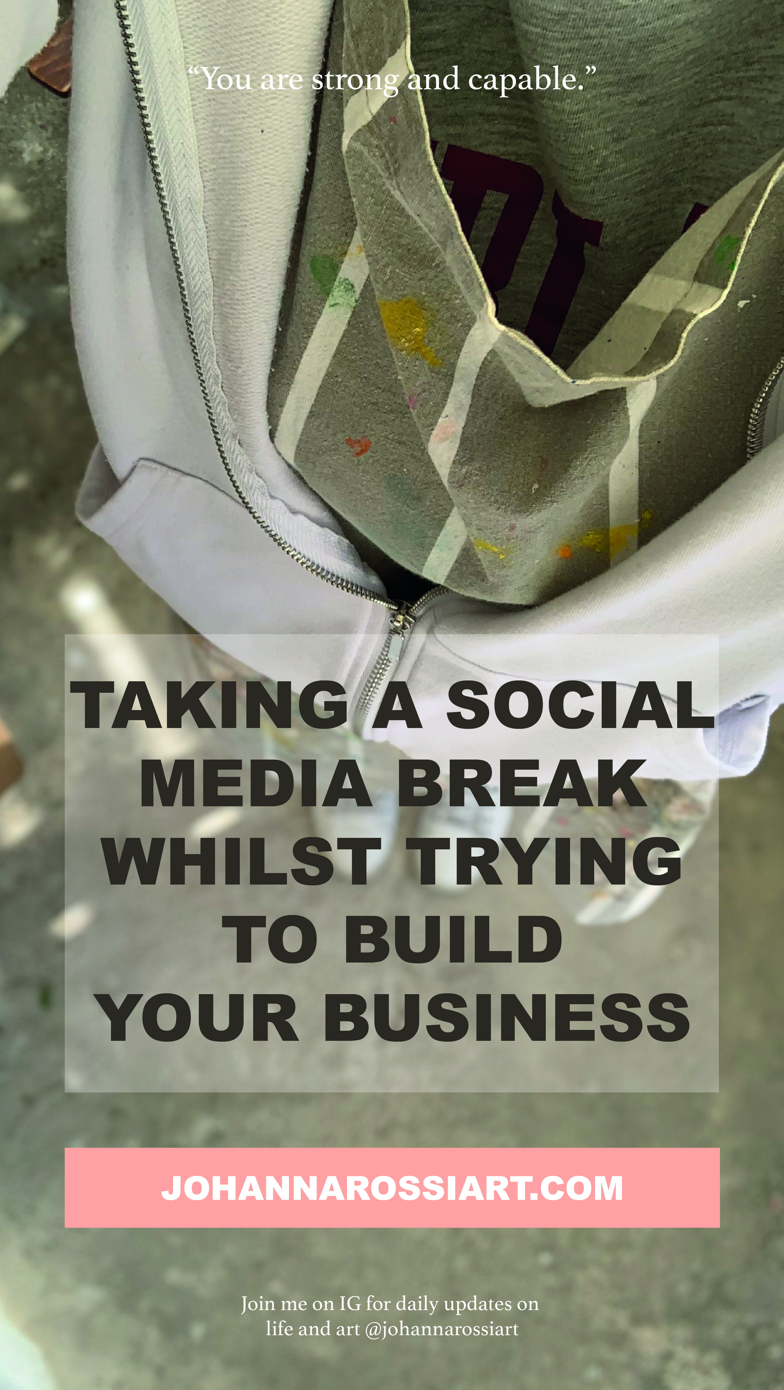 Is it possible to take a social media break whilst trying to build