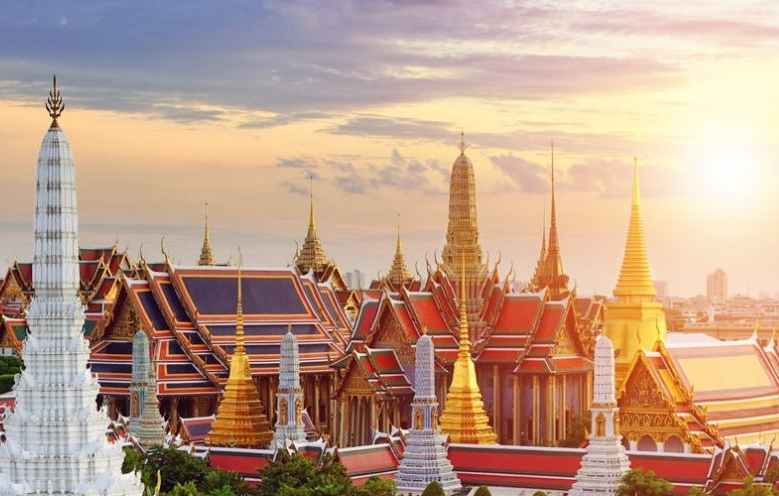 Grand Palace skyline bangkok