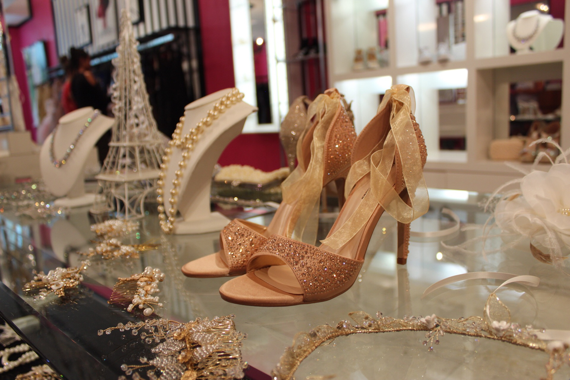 We do more than just dresses here at DressHaute! We have shoes, jewelry, veils, and more!