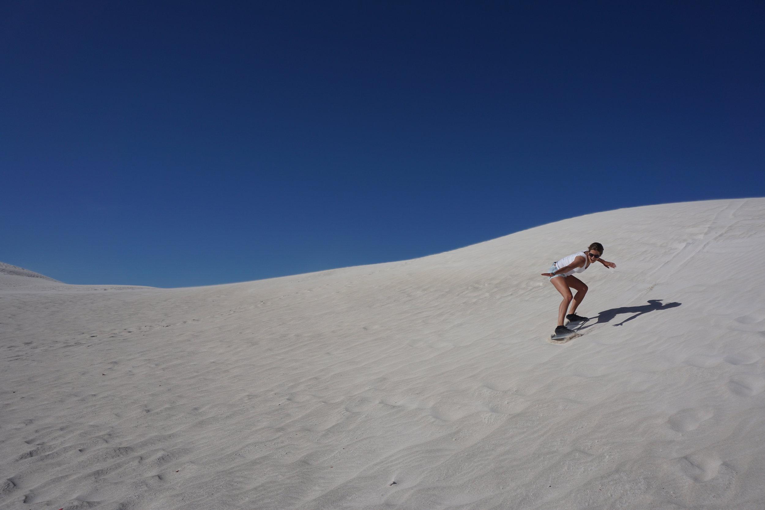 Sandboarding Lancelin