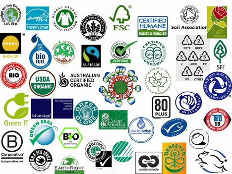 Feeling lost in eco labels - There are soooo many organizations that stand for green, organic and/or ecological. Sometime I feel lost in the middle. This pictures doesn't even cover all of them! You can support a few for a better world or keep an eye out for their labels in supermarkets. Small steps, big help!