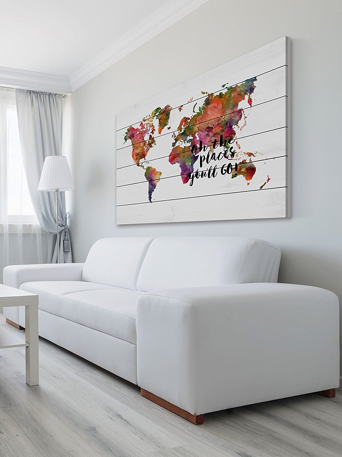 Map it with Dani J - Just look at this beauty! Who doesn't want this beautiful painting on white wood on their wall!